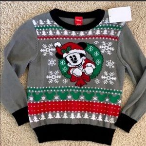 NEW Disney kids Mickey Christmas sweater